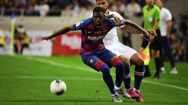 Ousmane Dembele mendapat kartu merah pertamanya di Barcelona sekaligus di sepanjang kariernya saat melawan Sevilla.