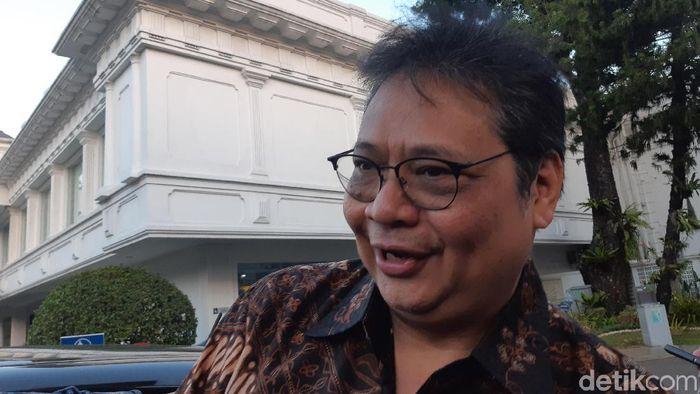 Foto: Menteri Perindustrian Airlangga Hartarto (Noval-detikcom)