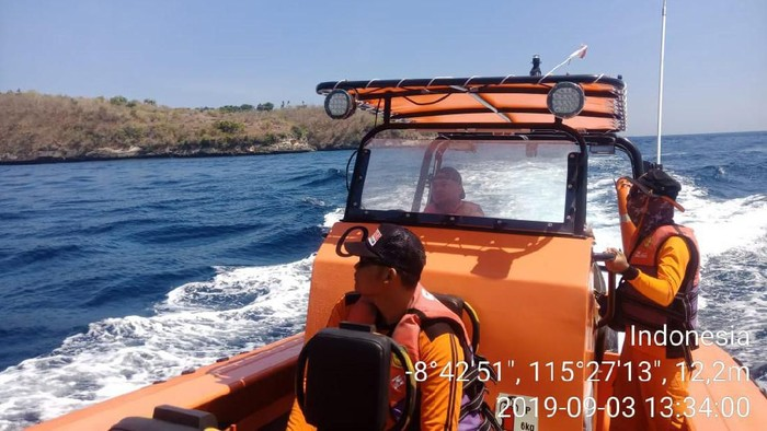 Basarnas Cari Pemuda yang Dilaporkan Hilang di Klungkung Bali (Foto: Dok Basarnas Bali)