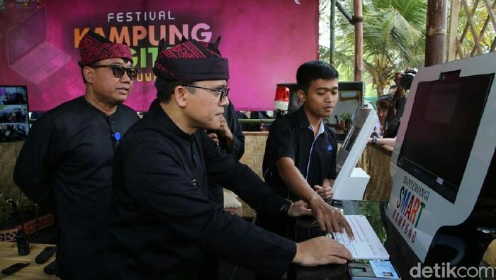 Bupati Anas di Festival Kampung Digital Banyuwangi (Ardian Fanani/detikcom)