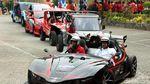 Dari Surabaya, Lima Mobil Listrik ITS Tiba di Jakarta