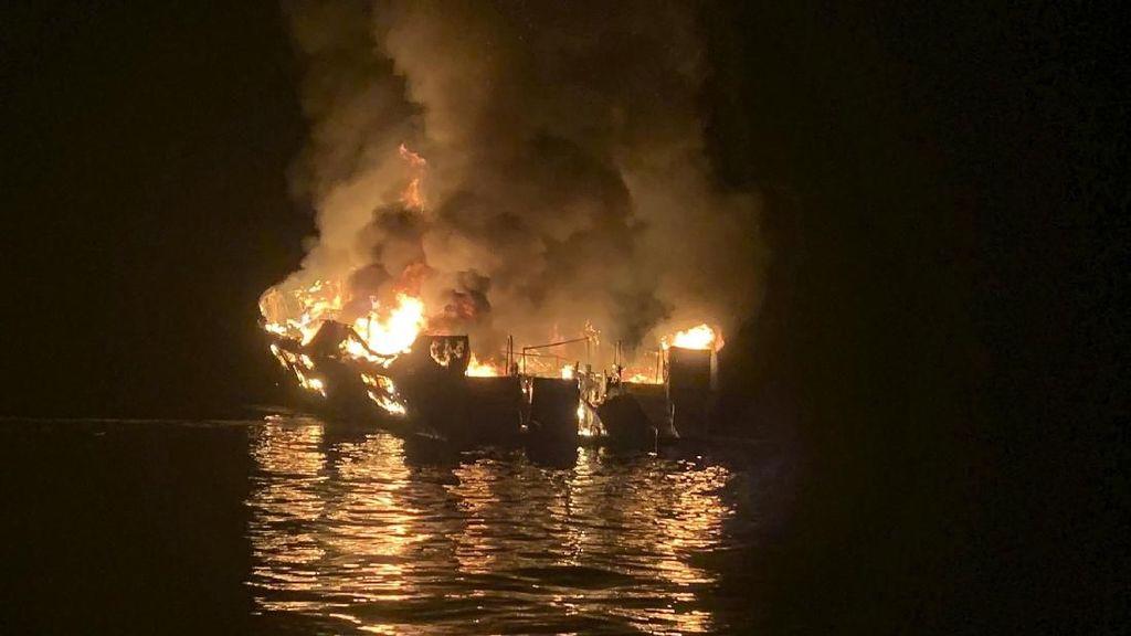 Kapal Terbakar dan Tenggelam di Pantai California, 8 Orang Tewas dan 26 Hilang