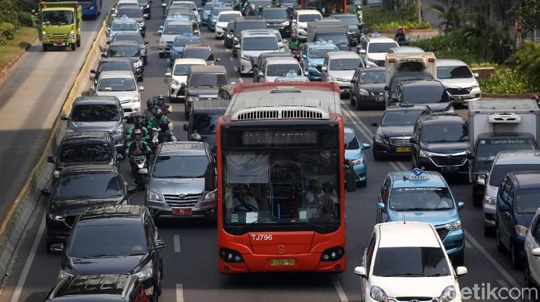 Kemacetan di Jakarta, bukti padatnya Pulau Jawa (Agung Pambudhy/detikcom)