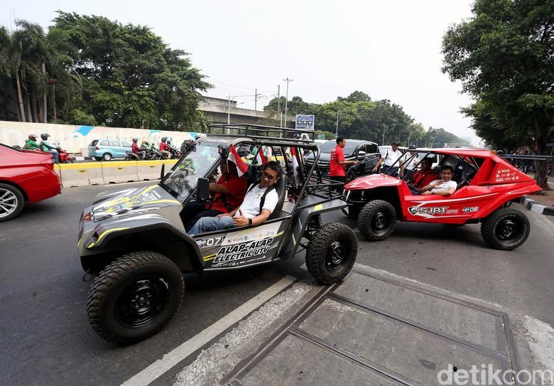 Mobil listrik garapan ITS. Foto: Rengga Sancaya