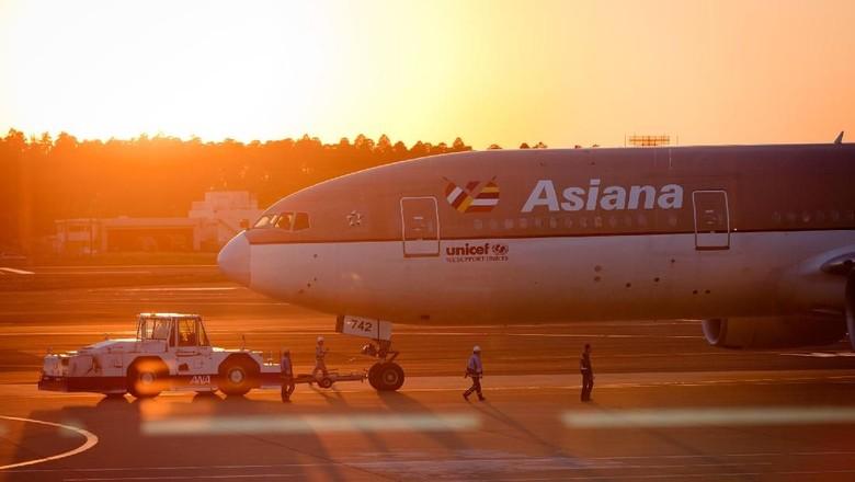 Ilustrasi pesawat Asiana (iStock)