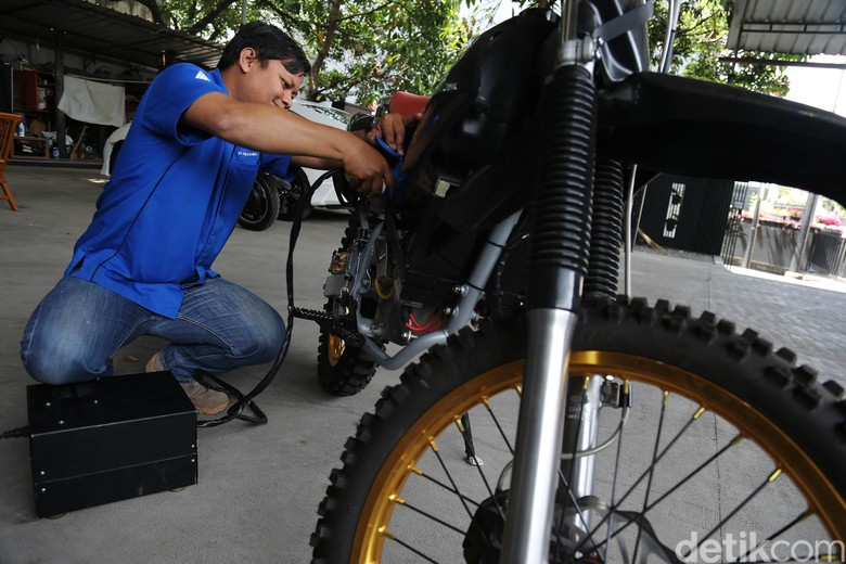 Motor listrik SDR made in Bandung Foto: Dikhy Sasra/detikcom
