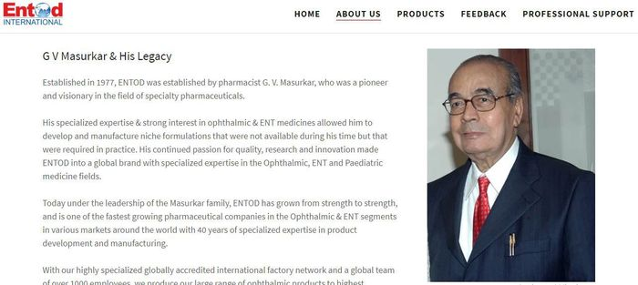Entod merupakan perusahaan yang bergerak di bidang farmasi asal India. Nama ini bahaya bila disebutkan di Indonesia. Istimewa/entodpharma.com.