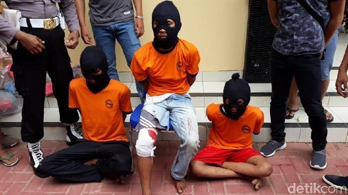 Polisi jumpa pers soal penangkapan 3 pemerkosa gadis Baduy (Bahtiar-detikcom)