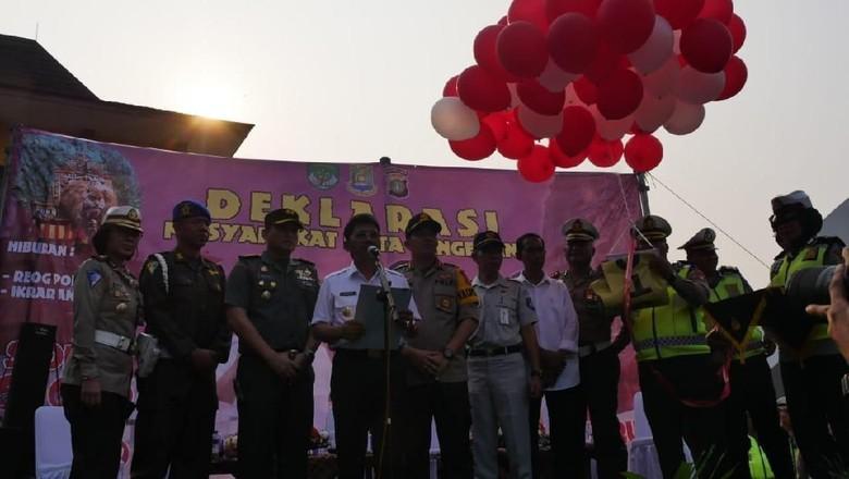 Pemkot Tangerang Deklarasi Anti Lawan Arus