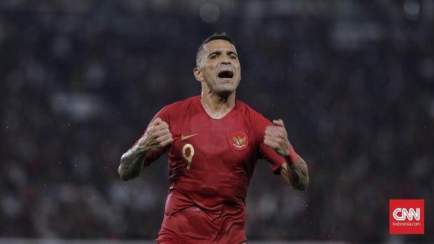 Beto Goncalves berhasil mencetak dua gol ke gawang Malaysia namun gagal membawa Indonesia menang.