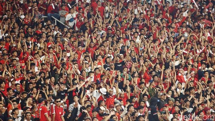 Ilustrasi Suporter Indonesia (Agung Pambudhy/detikcom)