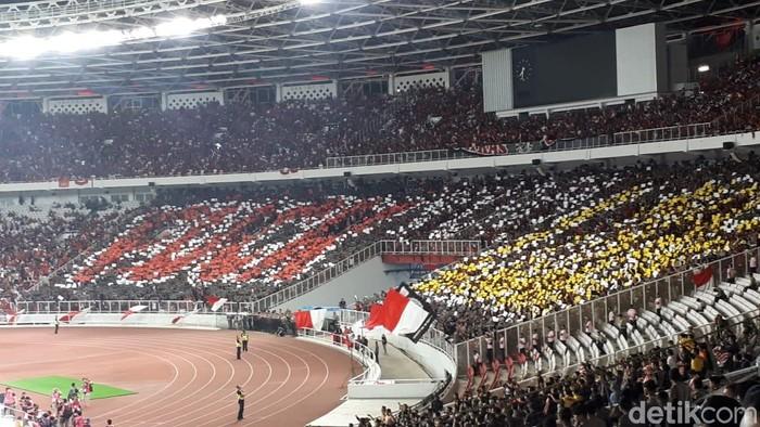 Suasana stadion di laga Indonesia vs Malaysia. Foto: Randy Prasatya/detikSport