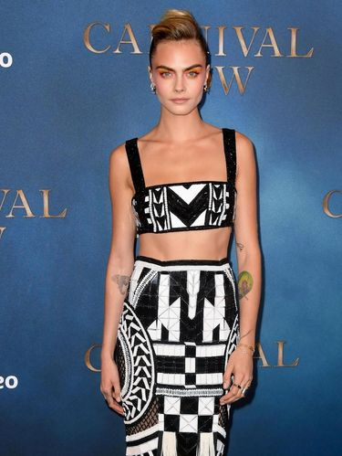 LONDON, ENGLAND - AUGUST 28:  Cara Delevingne attends the Amazon Original series