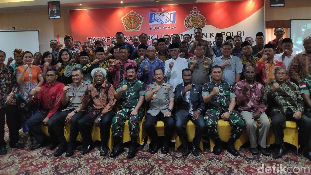 Dihadiri Panglima-Kapolri, Tokoh Lintas Agama Deklarasi Jaga Damai di Papua