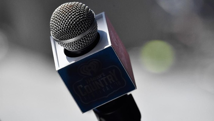 AUSTIN, TX - MAY 05:  (EDITORIAL USE ONLY. NO COMMERCIAL USE) An iHeartCountry Festival microphone is seen during the 2018 Daytime Village at the 2018 iHeartCountry Festival By AT&T at The Frank Erwin Center on May 5, 2018 in Austin, Texas.  (Photo by Frazer Harrison/Getty Images for iHeartMedia)