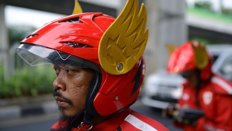 Helm abang Gaspol Foto: Muhammad Ridho