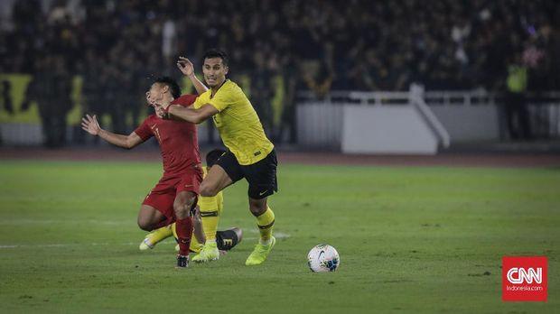 Timnas Indonesia saat dikalahkan Malaysia 2-3 di Jakarta. (