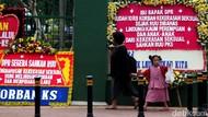 Karangan Bunga Desak Pengesahan RUU PKS Mejeng di DPR