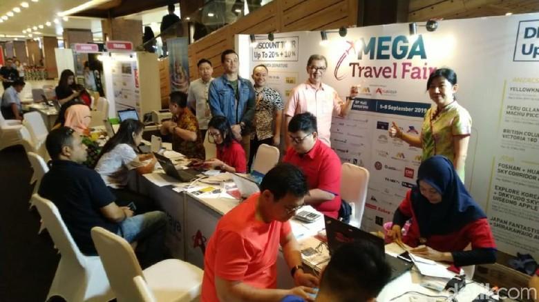 Foto: Mega Travel Fair di Semarang (Angling Adhitya Purbaya/detikcom)