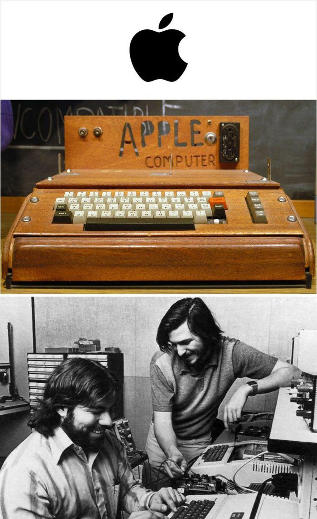 Steve Jobs, Steve Wozniak, dan Ronald Wayne menjadi sosok pendiri Apple. Microcomputer Apple I sendiri dirancang oleh Wozniak pada tahun 1975. Penjualan yang relatif sukses ikut mendorong lahirnya Apple II. (Foto: via Boredpanda.com)