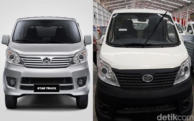 Esemka dan mobil China yang disebut mirip. Foto: dok detikcom