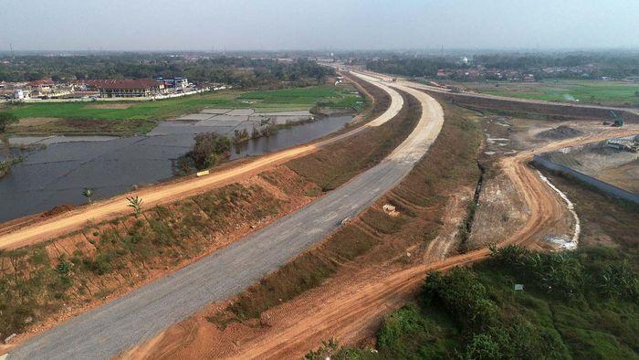 Seksi 1 meliputi ruas Serang hingga Rangkasbitung ditarget rampung pertengahan 2020. Pool/Wijaya Karya.