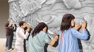 Noni Jerman di Dinding Bandara Kemayoran