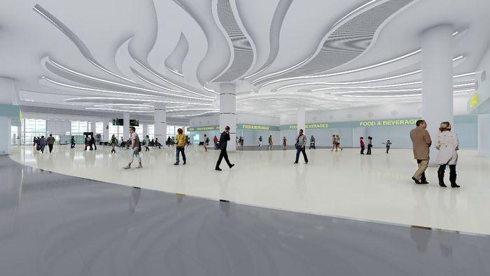 Bandara Syamsudin Noor Banjarmasin, salah satu yang terbesar di Kalimantan. Pool/Wijaya Karya.