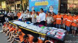 22 Kasus Narkoba Diungkap Polres Malang Kota, Belasan Bandar Diamankan