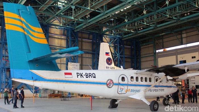 Maskpai Merpati Nusantara Airlines tak lagi beroperasi, namun logonya tetap terbang alias menempel di maskapai Aviastar. Ini Penampakannya.