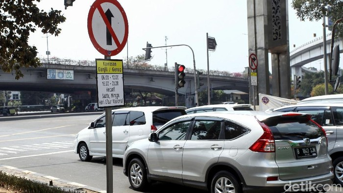 Perluasan Ganjil Genap di Jakarta. (Rifkianto Nugroho/detikcom)