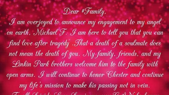 Istri Chester Bennington Resmi Tunangan, dengan Siapa?