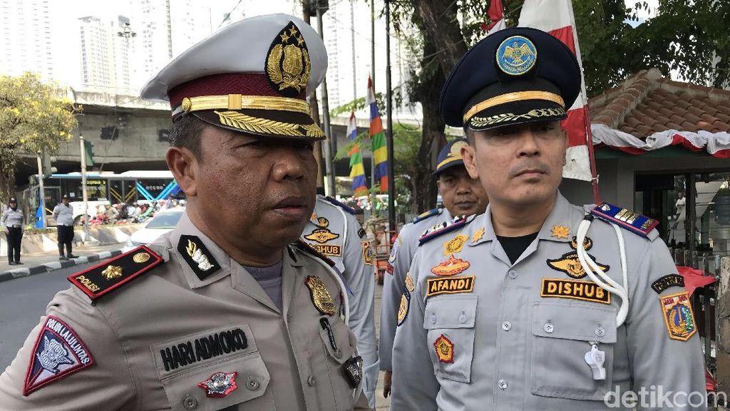 Hari Pertama Sistem Ganjil Genap di Jakbar, 153 Pengendara Ditilang
