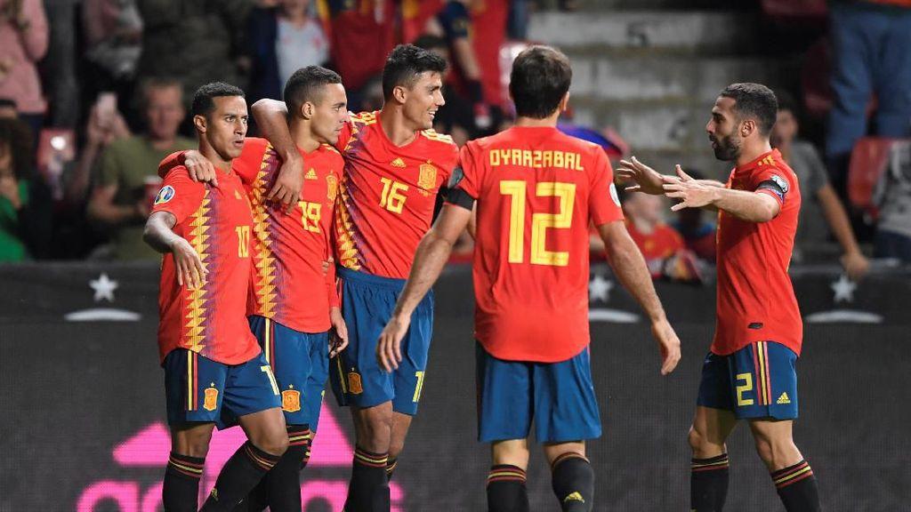 Hasil Kualifikasi Piala Eropa: Spanyol Pesta 4-0 atas Kepulauan Faroe