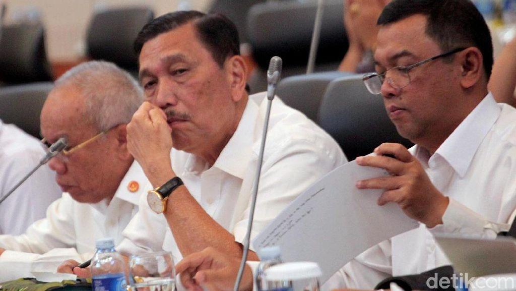 Ekspresi Luhut Saat Rapat Terakhir Bareng Banggar DPR