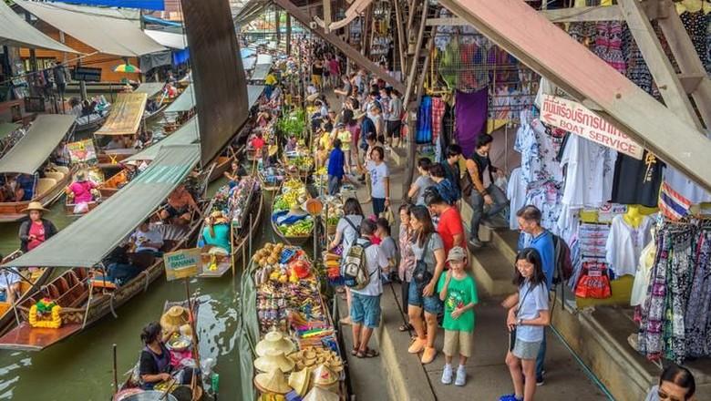 Floating Market di Bangkok, Thailand (iStock)