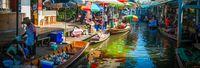 Floating market di Thailand.