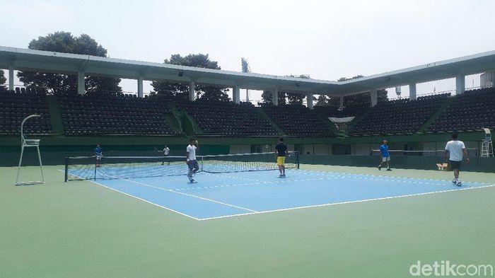 Tim Davis Cup Indonesia akan menghadapi Selandia Baru (Foto: Mercy Raya/detikSport)