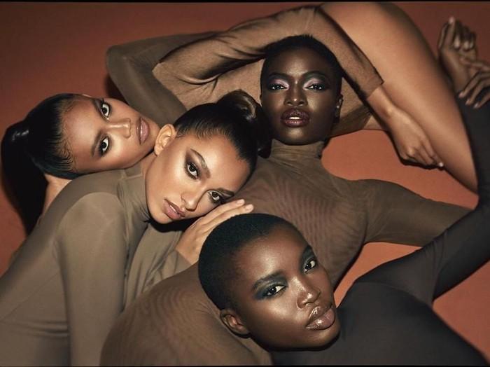 Laras Sekar di iklan kosmetik KKW Beauty besutan Kim Kardashian (Foto: Instagram/@kimkardashian)