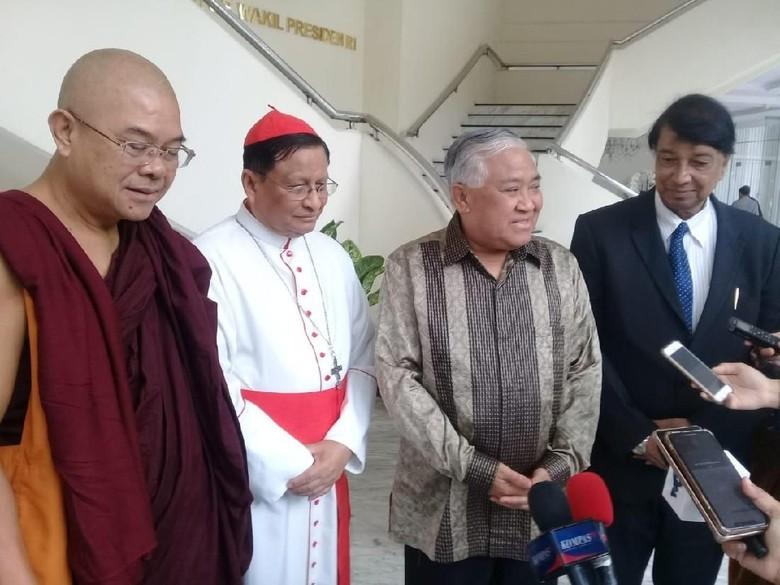 Didampingi Din Syamsuddin, Tokoh Lintas Agama Myanmar Temui JK