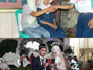 So Sweet! Pasangan Iseng Foto Nikah Saat SMP, Jadi Nyata 6 Tahun Kemudian
