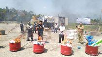 Rugikan Negara Rp 6 M, Mainan Ilegal Asal China Dibakar di Semarang