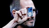 SAN FRANCISCO - SEPTEMBER 05:  Apple CEO Steve Jobs holds up a new version of the iPod Nano during an Apple Special event September 5, 2007 in San Francisco, California. Jobs announced a new generation of iPods.  (Photo by Justin Sullivan/Getty Images)