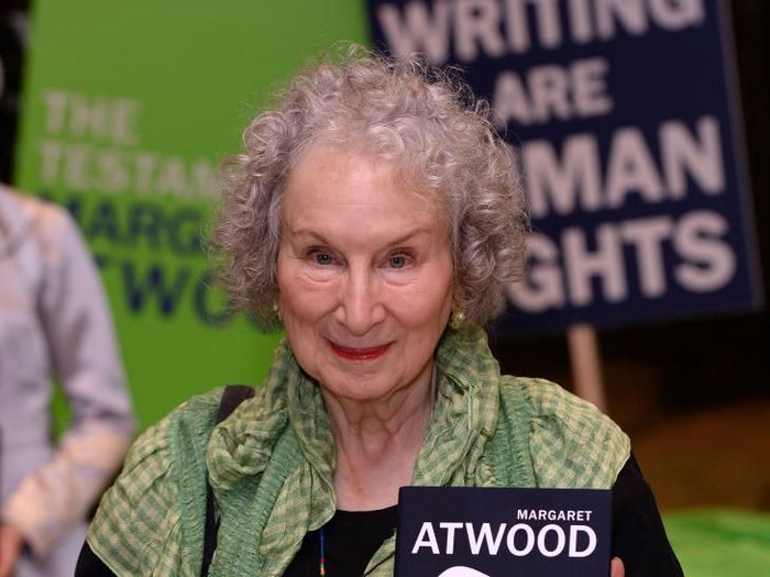 LONDON, ENGLAND - SEPTEMBER 09: Margaret Attwood at the Launch of her new book Testaments in Waterstones Piccadilly on September 09, 2019 in London, England. (Photo by Eamonn M. McCormack/Getty Images)