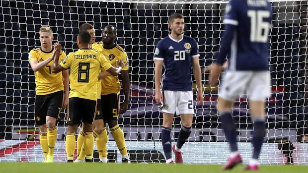 De Bruyne Kunci Belgia Pesta Gol di Kualifikasi Piala Eropa