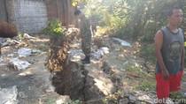 Puluhan Rumah di Bantaran Bengawan Solo Terancam Terbawa Longsor