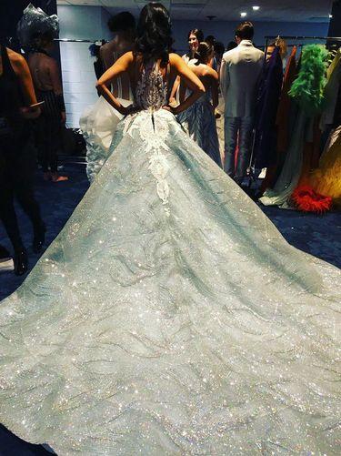Pia Wurtzbach Eksis di New York Fashion Week Pakai Gaun dengan 2.880 Kristal