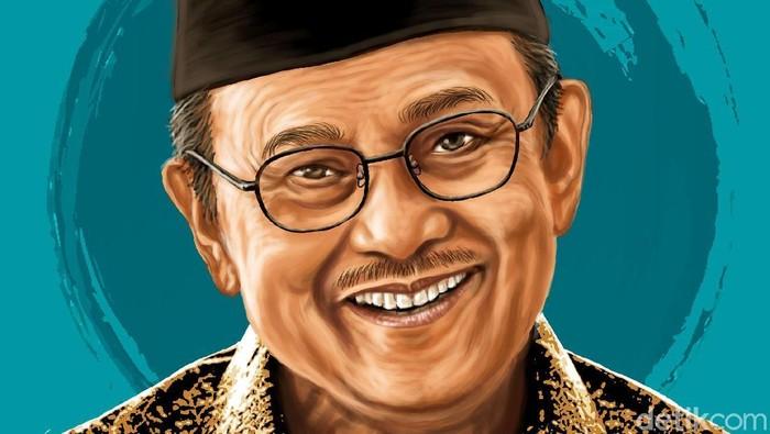 Julukan BJ Habibie berkat Karya Besarnya di Dunia Teknologi. (Foto: Edi Wahyono)