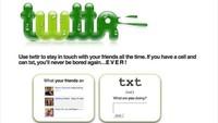 Tampilan perdana Twitter. Bahkan dulu namanya masih twttr di 2006. Istimewa/Dok. Boredpanda.