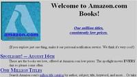 Begini tampilan awal situs ecommerce Amazon. Jauh berbeda dengan tampilannya hari ini. Istimewa/Dok. Boredpanda.